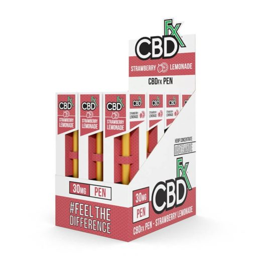 CBD Vape Pen – Strawberry Lemonade – 12 Pack